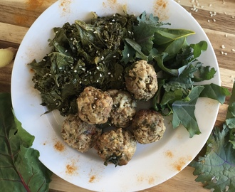 Crockpot Anti-Inflammatory Meatballs and Greens (AIP/Low-FODMAP)