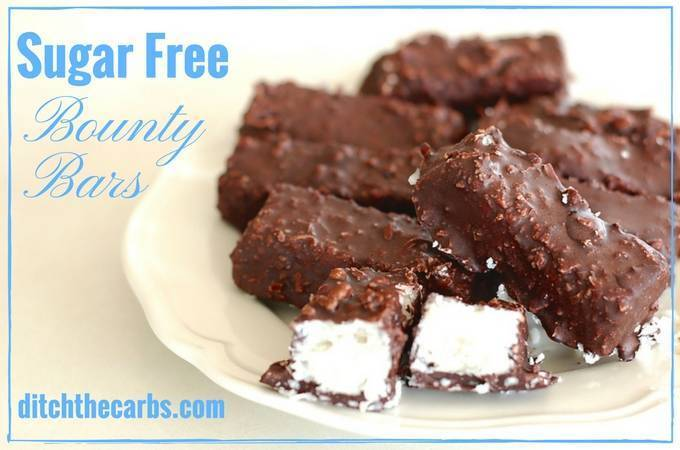 Sugar Free Bounty Bars (coconut bars)