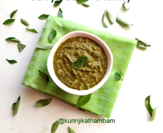 Curry Leaves Chutney / Karuveppilai Chutney