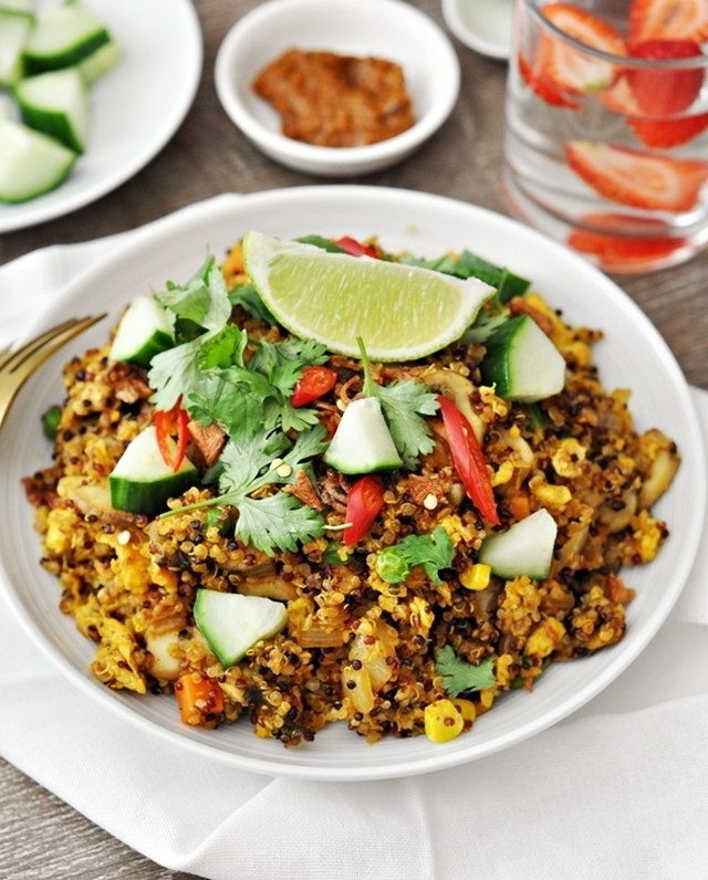 "Curry Quinoa Fried ""Rice"""