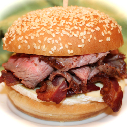 ~ Chef Paul's Blackened Flank Steak Sandwiches ~