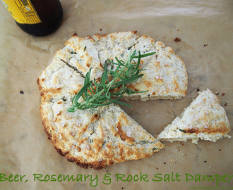 Beer, Rosemary & Rock Salt Damper for Australia Day