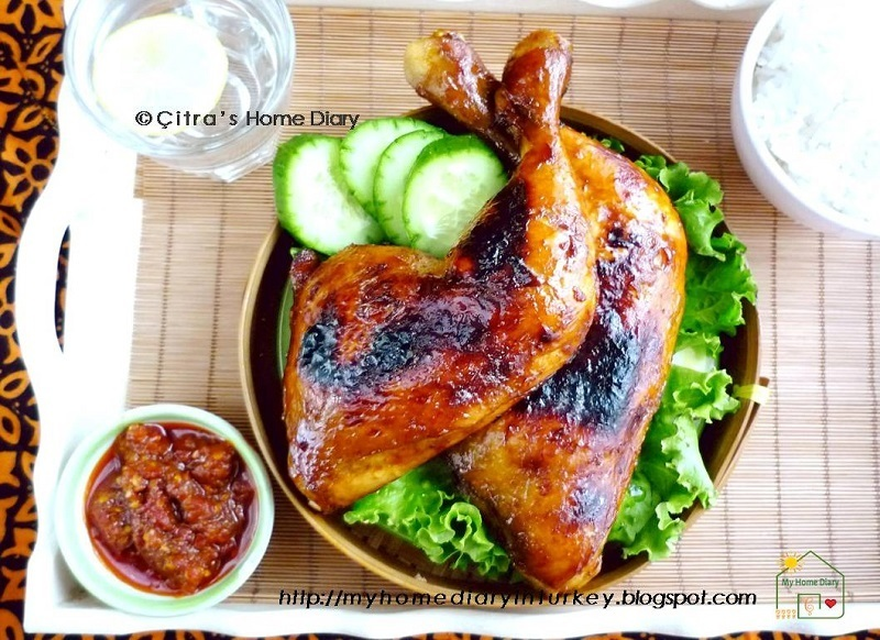 Resep Ayam Bakar Kecap / İndonesian grilled sweet soy sauce Chicken