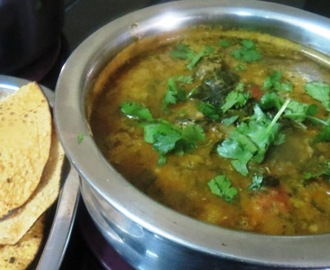 Methi - Tomato - Brinjal Curry