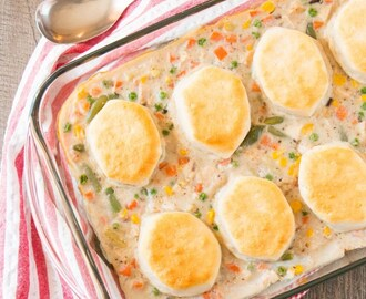 Leftover Turkey & Biscuit Casserole