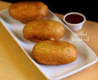 bread roll recipe | stuffed potato bread roll | how to make bread roll