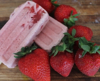 Homemade Ice Creams!  Strawberry & Honey Yoghurt Pops!