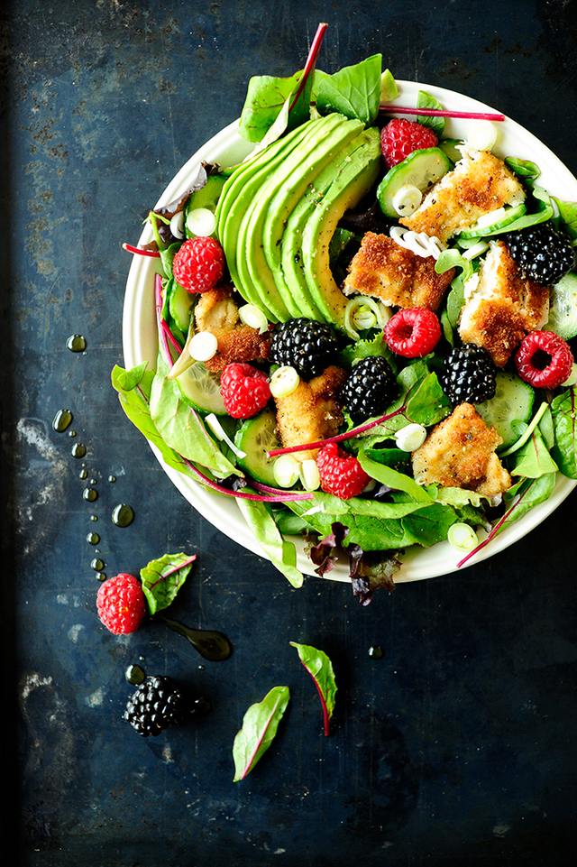 Chicken salad with fruit