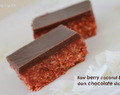 Raw berry coconut & dark chocolate slice