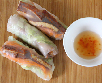 Vietnamese Rice Paper Rolls with a Tangy Lime Sauce