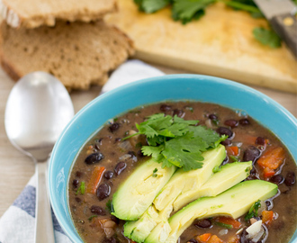 Spicy Black Bean Soup (20 Min, Vegan)