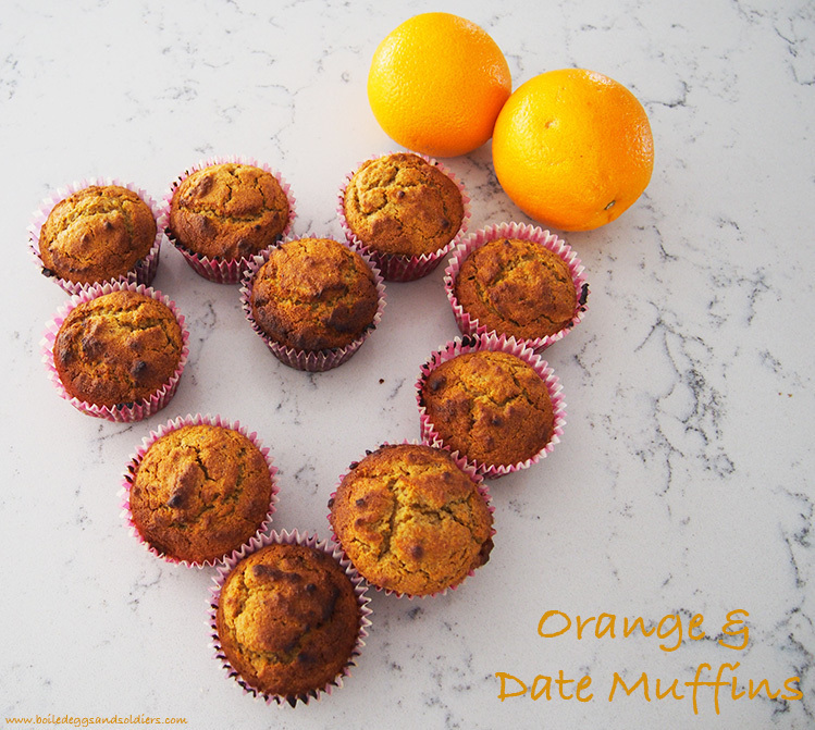 Lunch box loving Orange & Date Muffins