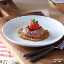Coconut Tuiles with Fresh Strawberries and Chocolate Whipping Cream