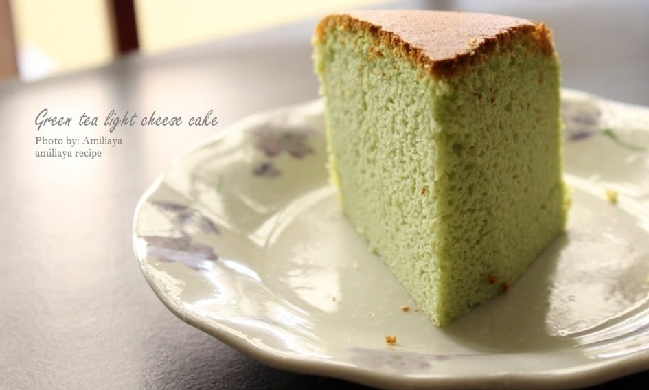 Green tea light cheese cake 绿茶轻乳酪蛋糕