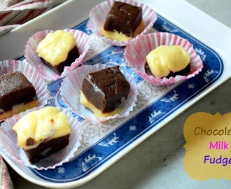 Chocolate Milk Fudge ~ 4 Ingredient Microwave Fudge
