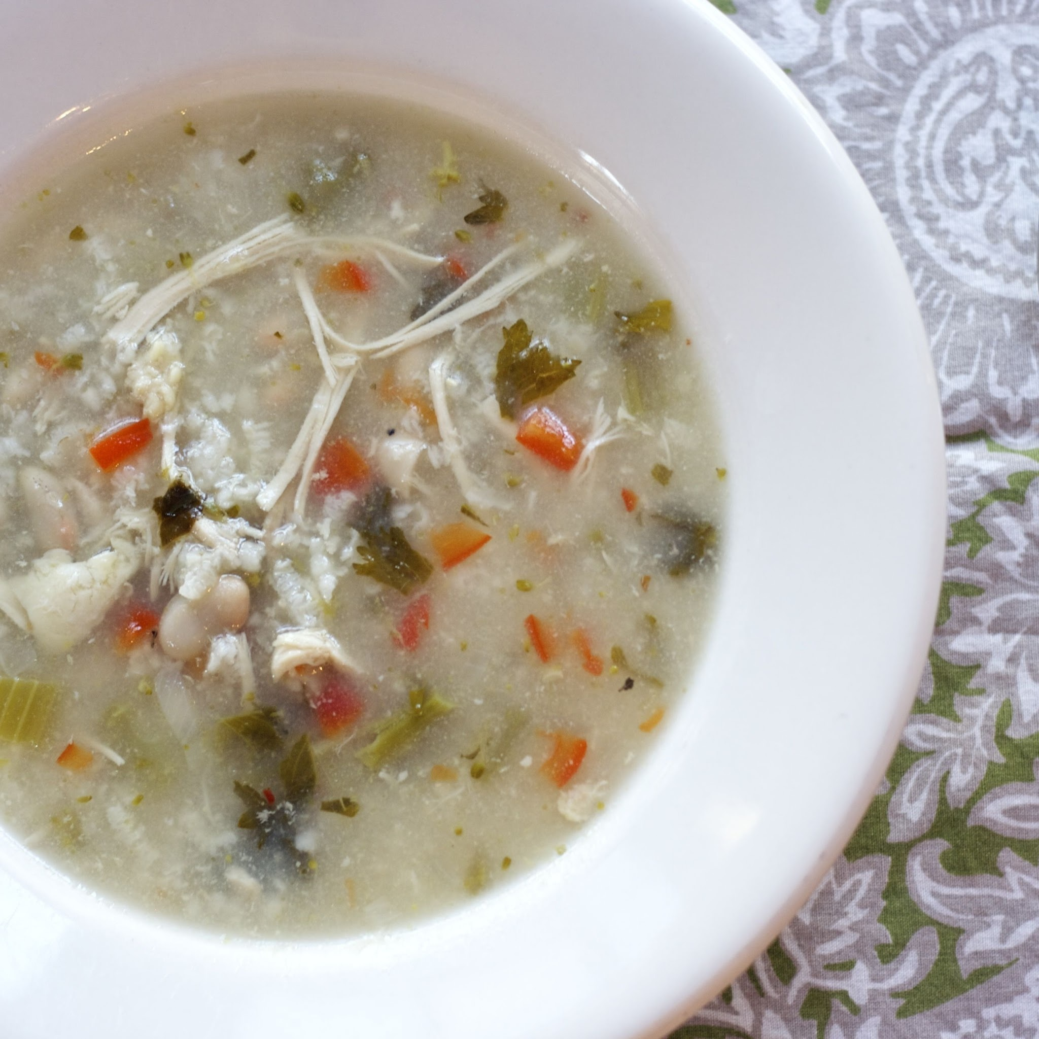 Slow Cooker Italian White Bean Chicken Soup  #Weekly Menu Plan