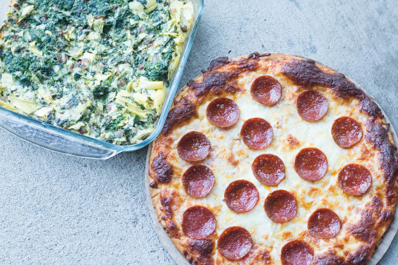 Cheesy Bacon Spinach Artichoke Dip Recipe