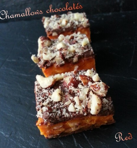 Chamallows ou guimauves chocolatées