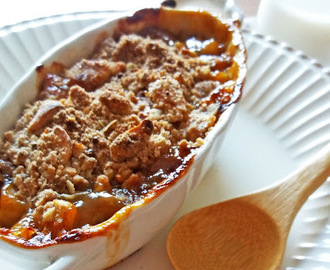 Crumble de Banana e Amendoim