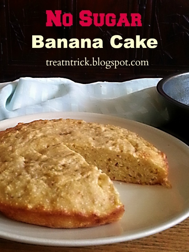 NO SUGAR BANANA CAKE RECIPE