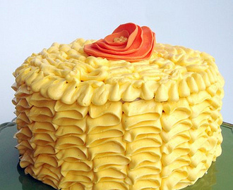 Orange Cake with Swiss Meringue Buttercream Frosting