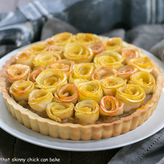 Rose Apple Tart #SundaySupper