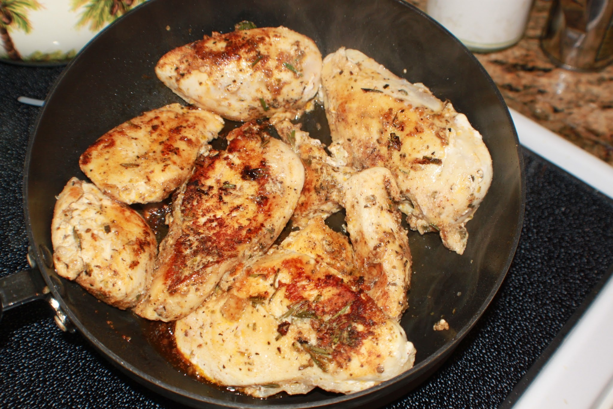 Pan Fried Chicken with Garlic Butter and Herb Recipe