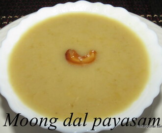 Moong dal payasam with coconut milk I Hesaru bele payasa