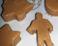 Caramel Fudge Christmas Shapes