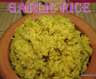 Garlic rice I Huggi/ Madei anna