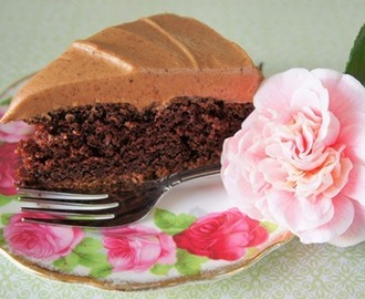 Chocolate Buttermilk Cake with Chocolate Cream Cheese Frosting
