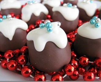 Mini Chocolate Christmas Puddings