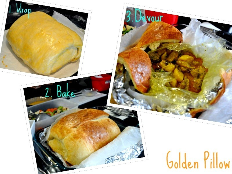 Spectacular Christmas Lunch of Golden Pillow : Malaysian Bread Stuffed with Curry Chicken