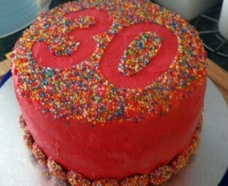 30th Birthday Chocolate Raspberry Freckle Cake Recipe