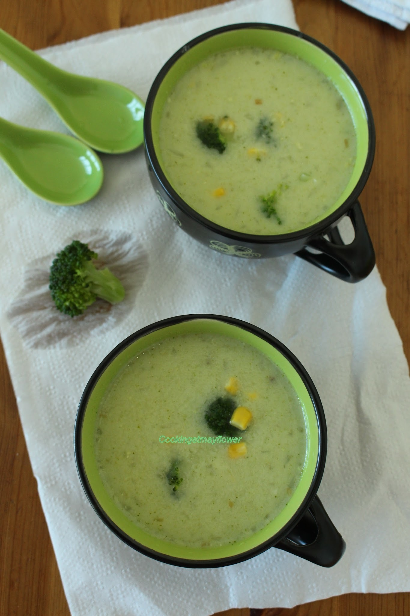 Broccoli oats soup