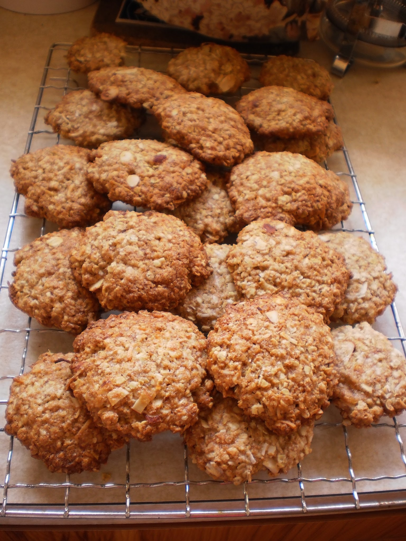 Oat, Coconut and Almond Cookies