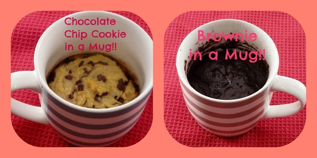 Individual Cookies and Brownie in a Mug