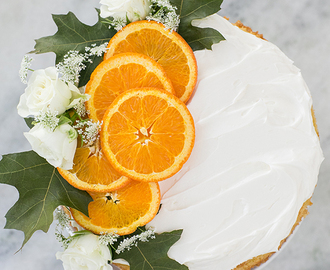 Orange Rum Cake with Meringue Buttercream
