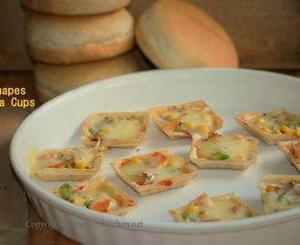 Baked Canapes Pizza Cups