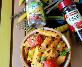 Creamy Tomato Pasta with Cream cheese - Cream cheese tomato pasta - Kids friendly recipe - Party recipes - Pasta recipes