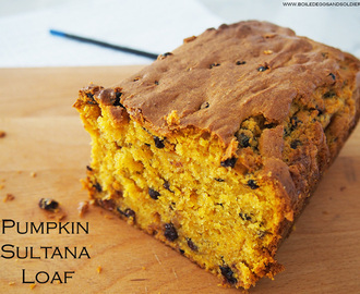 Pumpkin Sultana Loaf – regular & Thermomix