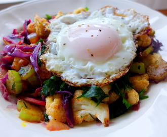 Paleo Vegetable Hash with Fried Egg