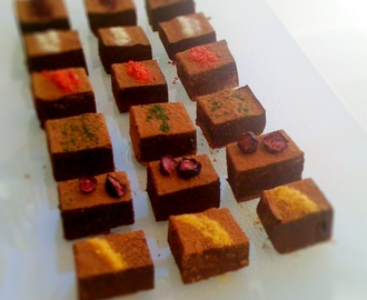 My best homemade chocolates so far: nama choco with fruit powders