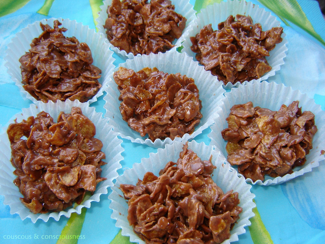 Chocolate Caramel Crispy Cakes Recipe for I Heart Cooking Clubs