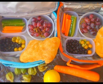 Vegan school lunch boxes, mostly raw, eat your colours and 5+ a Day