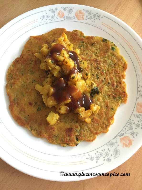 Quinoa and bulgur with vegetable pancakes (quinoa ne bulgur  na pudla)