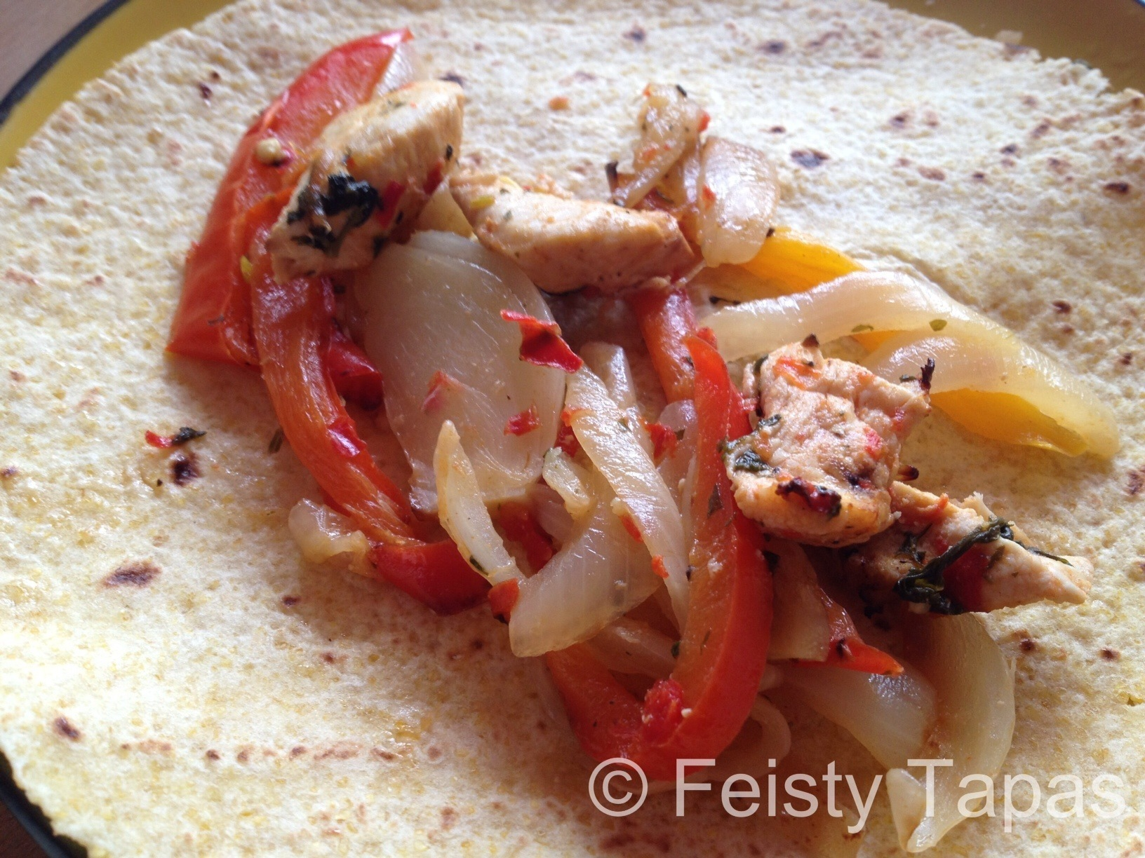 Thermomix recipe: Chicken fajitas with the help of the Thermomix, food processor, blender or hand