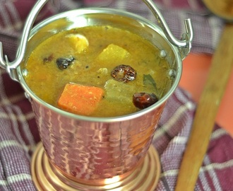 Varutharacha Sambar ~ Malabar Style Mixed Vegetable Lentil Stew