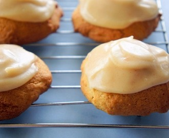 Soft Brown Sugar Biscuits with Browned Butter Icing