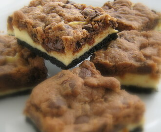 Nutella Cookie Dough Cheesecake Bars